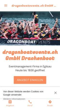 Vorschau der mobilen Webseite dragonboateventsch.business.site, Dragonboatevents - Felix Meier und Daniel Schmid