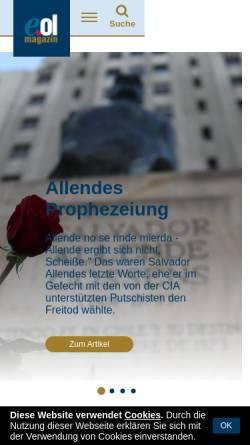 Vorschau der mobilen Webseite www.europeonline-magazine.eu, Europe Online Magazine