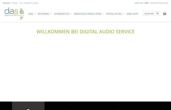 Vorschau von www.digitalaudioservice.de, Digital Audio Service GmbH
