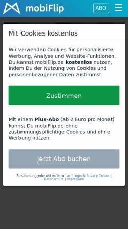 Vorschau der mobilen Webseite www.mobiflip.de, mobiFlip