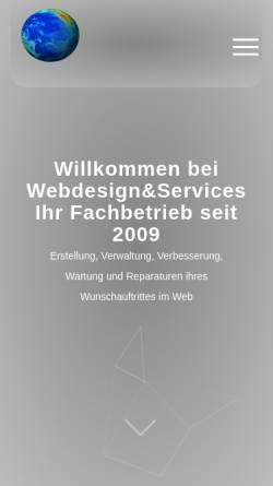 Vorschau der mobilen Webseite www.webdesign-plus-services.de, Webdesign Christoph Schwarz