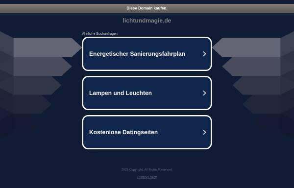 Vorschau von www.lichtundmagie.de, Licht und Magie