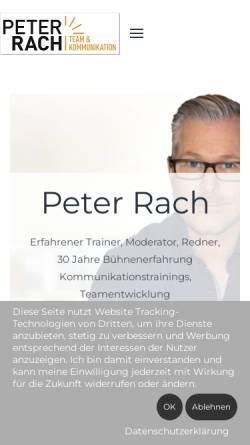 Vorschau der mobilen Webseite www.peter-rach-coaching.de, Peter Rach