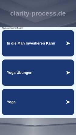 Vorschau der mobilen Webseite www.clarity-process.de, Clarity Process nach Jeru Kabbal