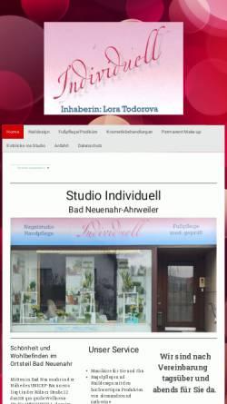 Vorschau der mobilen Webseite www.individuell.de, Studio Individuell - Inh: Birgit Schneider
