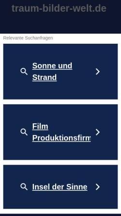 Vorschau der mobilen Webseite www.traum-bilder-welt.de, Atelier Conny Krakowski