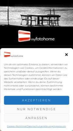 Vorschau der mobilen Webseite www.myfotohome.at, myfotohome.at