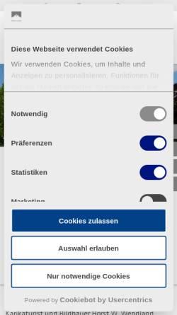 Vorschau der mobilen Webseite www.schloss-lautrach.de, Management Centrum Schloss Lautrach GmbH