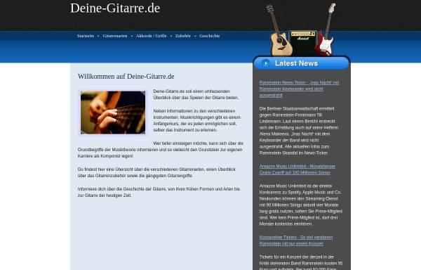 Vorschau von deine-gitarre.de, Deine-Gitarre.de - Informationsseite