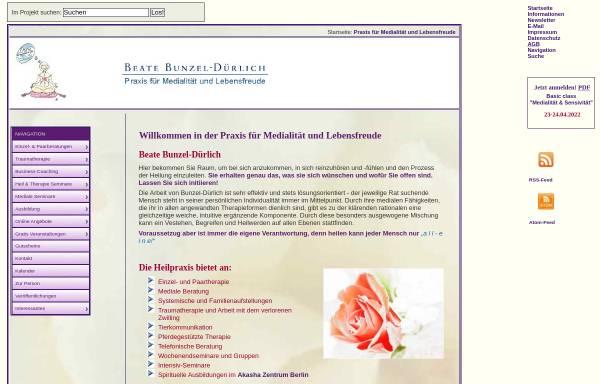 Vorschau von www.beate-k-duerlich.de, Praxis für Medialität