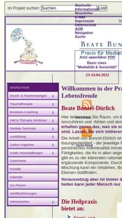 Vorschau der mobilen Webseite www.beate-k-duerlich.de, Praxis für Medialität