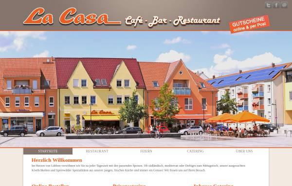 Vorschau von www.restaurant-la-casa.de, Restaurant & Eiscafé La Casa