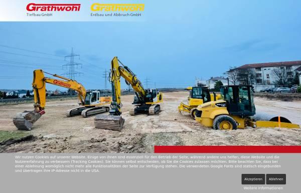 Vorschau von www.grathwohl-gruenstadt.de, Grathwohl, Erdbau & Abbruch GmbH
