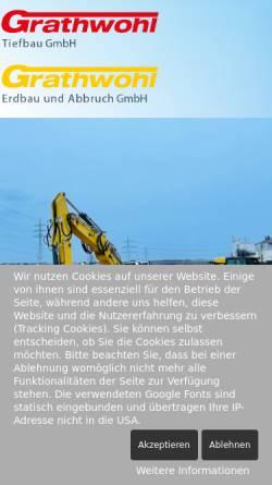 Vorschau der mobilen Webseite www.grathwohl-gruenstadt.de, Grathwohl, Erdbau & Abbruch GmbH