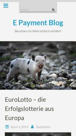 Vorschau der mobilen Webseite www.epayment-blog.de, E-Payment Blog, Knut Barth