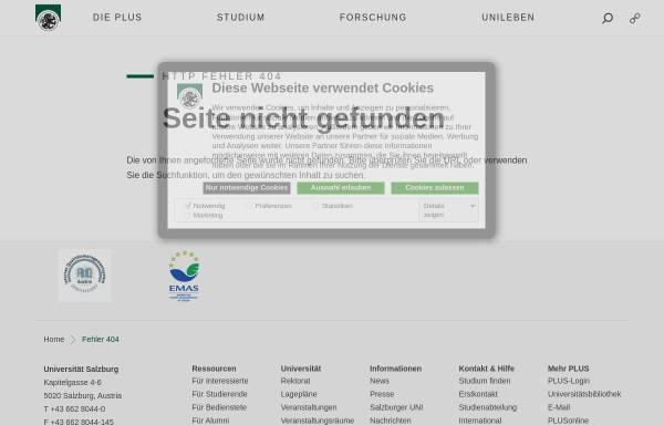 Vorschau von www.uni-salzburg.at, USZ - Sprachenzentrum der Universität Salzburg