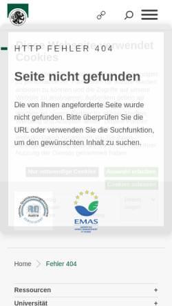 Vorschau der mobilen Webseite www.uni-salzburg.at, USZ - Sprachenzentrum der Universität Salzburg