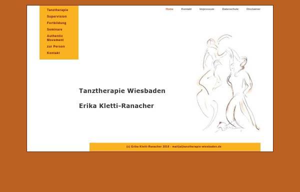 Vorschau von www.tanztherapie-wiesbaden.de, Tanztherapie Erika Kletti-Ranacher