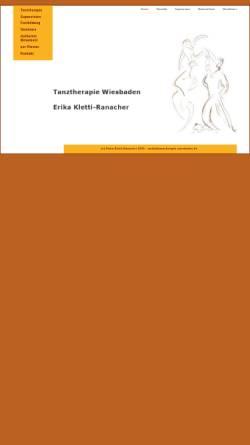 Vorschau der mobilen Webseite www.tanztherapie-wiesbaden.de, Tanztherapie Erika Kletti-Ranacher