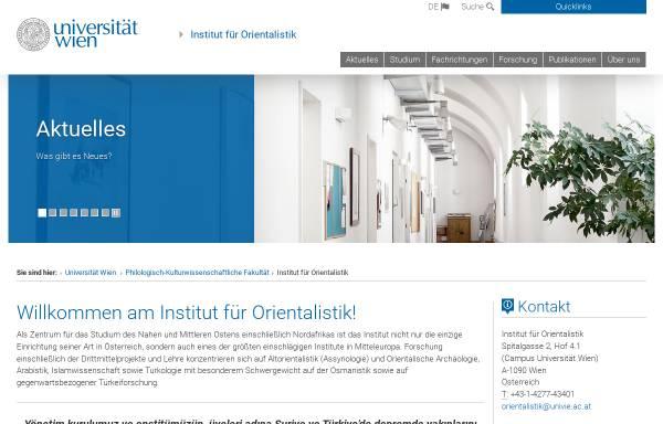 Vorschau von orientalistik.univie.ac.at, Institut für Orientalistik der Universität Wien