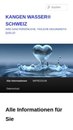Vorschau der mobilen Webseite www.kangen-wasser-schweiz.com, Kangen Wasser Schweiz