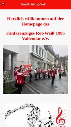 Vorschau der mobilen Webseite www.fanfarenzug-vallendar.de, Fanfarenzug Vallendar