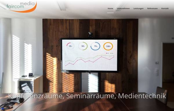 Vorschau von www.faircom-media.de, Tischanschlussfelder Online-Shop - Faircom media GmbH