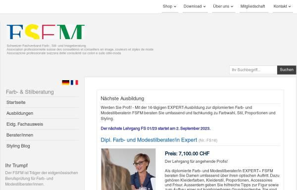 Vorschau von www.fsfm.ch, FSFM - Fachverband Schweizerische Farb- und Modestilberatung