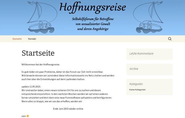 Vorschau von www.hoffnungsreise.de, Hoffnungsreise