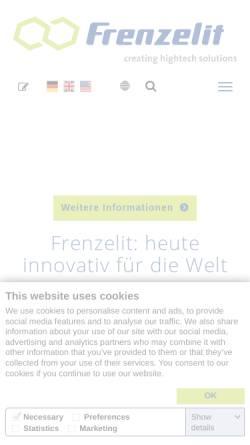Vorschau der mobilen Webseite www.frenzelit.com, Frenzelit Himmelkron
