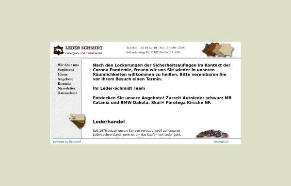 Vorschau von www.leder-schmidt.com, Leder Schmidt