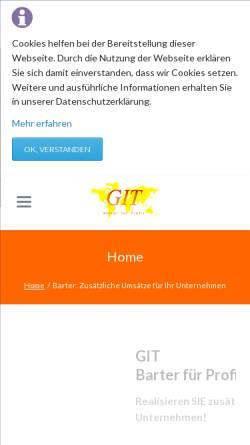 Vorschau der mobilen Webseite www.gitrade.com, Gruber International Trade Inc. & Co. KEG