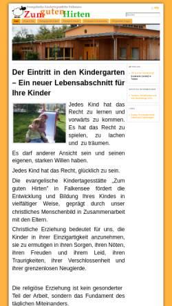 Vorschau der mobilen Webseite www.kita-zum-guten-hirten.de, Integrative Evangelische Kindertagesstätte