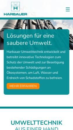 Vorschau der mobilen Webseite www.harbauer-berlin.de, Harbauer GmbH