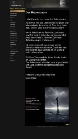Vorschau der mobilen Webseite www.rabenbaum.com, Raben, Runen und Magie