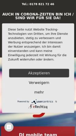 Vorschau der mobilen Webseite www.dj-mobile-team.de, DJ Mobile Team