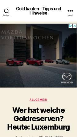 Vorschau der mobilen Webseite www.gold-kaufen.biz, Gold kaufen