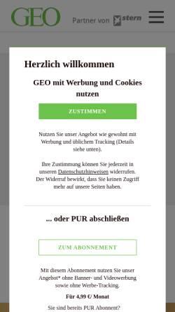 Vorschau der mobilen Webseite www.geo.de, GEO hilft der Bohne
