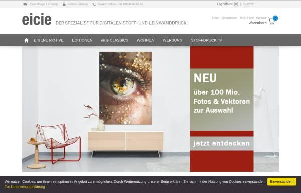 Vorschau von www.eicie.com, Eicie - digitaler Stoffdruck