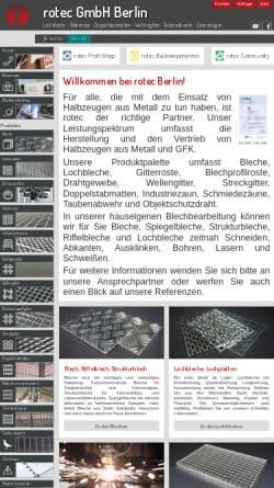 Vorschau der mobilen Webseite www.rotec-berlin.de, Rotec GmbH