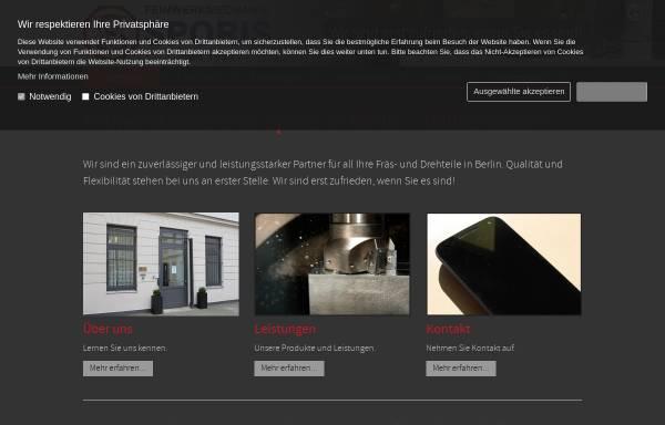 Vorschau von www.sporis.de, Sporis Maschinenbau und Dreherei