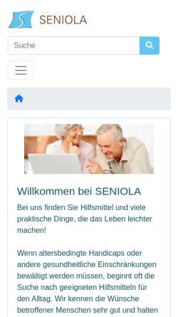 Vorschau der mobilen Webseite www.seniola.de, Seniola, Ute Henschel