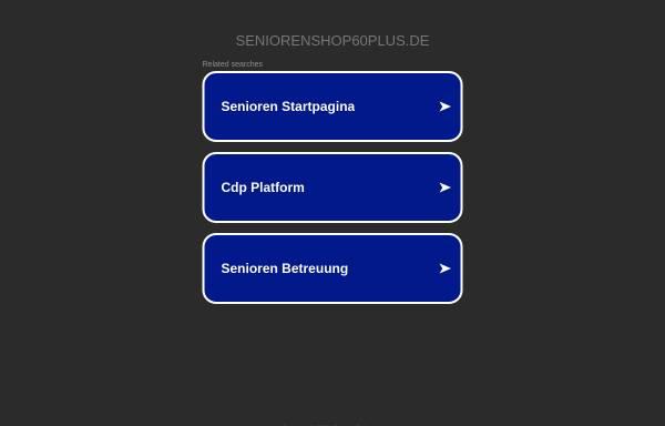 Vorschau von www.seniorenshop60plus.de, Seniorenshop60plus, Torsten Seidler