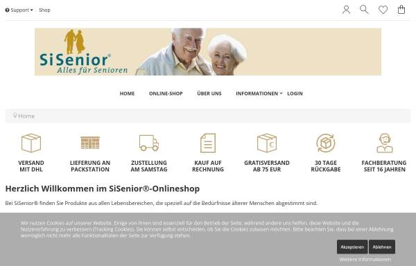 Vorschau von www.sisenior.de, SiSenior - Wolfgang Hammes u. Annette Scherer GbR