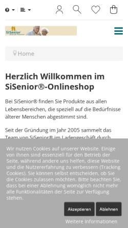 Vorschau der mobilen Webseite www.sisenior.de, SiSenior - Wolfgang Hammes u. Annette Scherer GbR