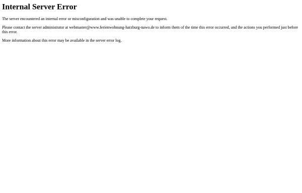 Vorschau von www.ferienwohnung-harzburg-nawo.de, Ferienwohnungen Jürgen Nawo