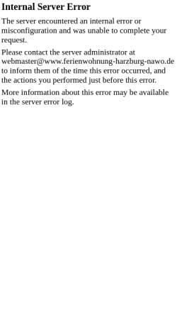 Vorschau der mobilen Webseite www.ferienwohnung-harzburg-nawo.de, Ferienwohnungen Jürgen Nawo