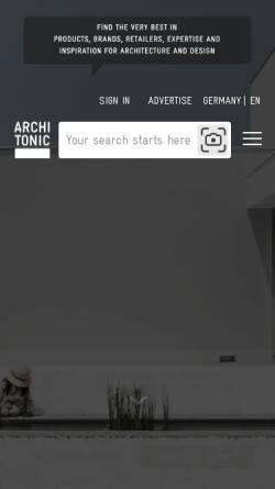 Vorschau der mobilen Webseite www.architonic.com, Architonic by Architonic AG