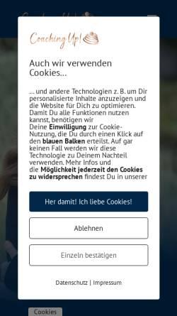 Vorschau der mobilen Webseite www.coaching-up.de, Coaching up! - Dipl.-Psych. Angelika Gulder