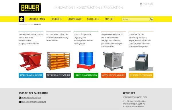 Vorschau von www.bauer-suedlohn.de, Bauer GmbH